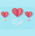happy valentines daypaper cut style vector image