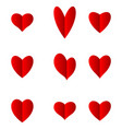 hearts set for valentine day isolated on white bac vector image vector image