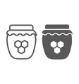 honey line and glyph icon food and sweet vector image vector image