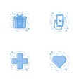 icons with prize phone in hand heart help cross vector image