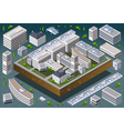 Isometric European Building vector image