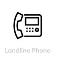 landline phone icon editable outline vector image