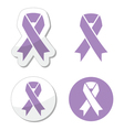 Lavender ribbon general cancer awareness