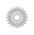 mandala icon design template isolated vector image