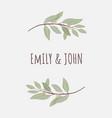 minimal hand drawn eucalyptus wreath frame vector image vector image