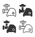 monochromatic electric meat chopper icon in vector image