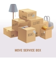 Move service box package cargo concept vector image vector image