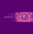 natural fertilization web banner sperm and egg vector image vector image