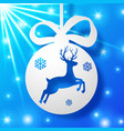 new year bauble background vector image vector image