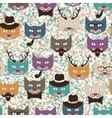 Pattern with cats vector image vector image