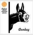 peeking donkey - donkey screams - face head vector image vector image