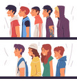people different subcultures set side view vector image vector image