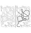 Pilates class maze vector image