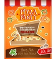 Pizza Party Poster vector image vector image