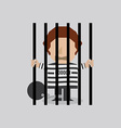 Prisoner In Jail vector image vector image
