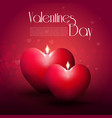 realistic happy valentines day romantic template vector image