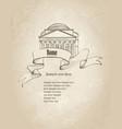rome citiy symbol pantheon italian landmark label vector image vector image