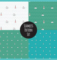seamless marine pattern set vector image