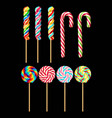 set of lollipops vector image