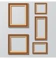 set white photo frames on grey background vector image vector image