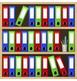 Shelves with file folders vector image