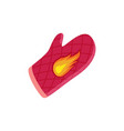 single oven-glove badges in cartoon style vector image