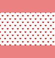 small red hearts on white seamless pattern vector image