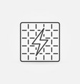 solar panel outline icon vector image