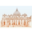 St Peters Cathedral Rome Vatican Italy Hand vector image
