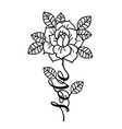 tattoo rose flowertattoo mystic symbol with word vector image