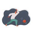 the man a playing bowling vector image