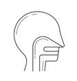 throat line icon vector image vector image