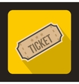 Ticket icon in flat style vector image vector image
