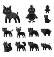 toy animals black icons in set collection for vector image