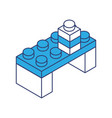 toy building block bricks vector image