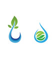 water drop and leaf logo template vector image
