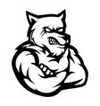 werewolf mascot logo silhouette version wolf logo vector image
