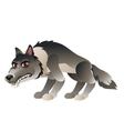 Wolf in cartoon style for your design needs vector image vector image