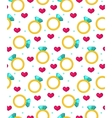 Cute seamless pattern Valentines day with jewel vector image