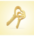 The key heart and love vector image