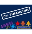 0 Percent Financing Rubber Stamp vector image vector image