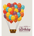 Airballoon design over gray background vector image vector image