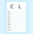 alphabet letters tracing worksheet with alphabet l vector image vector image