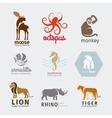 Animals logos vector image