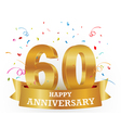 Anniversary Celebration with confetti vector image vector image
