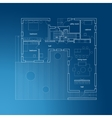 Architectural blueprint with plan vector image vector image