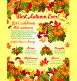 autumn harvest celebration banner template design vector image vector image