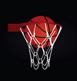 basketball basket and ball vector image vector image
