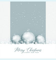 beautiful merry christmas greeting with balls and vector image vector image