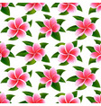 beautiful tropical flowers seamless floral summer vector image vector image